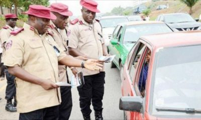 FRSC sends strong warning to drivers conveying two passengers in front seat