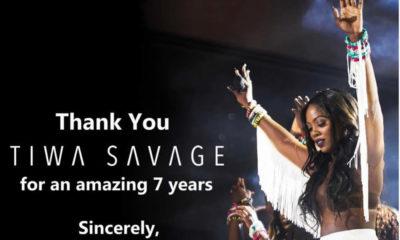 Tiwa Savage leaves Mavin Records gracefully