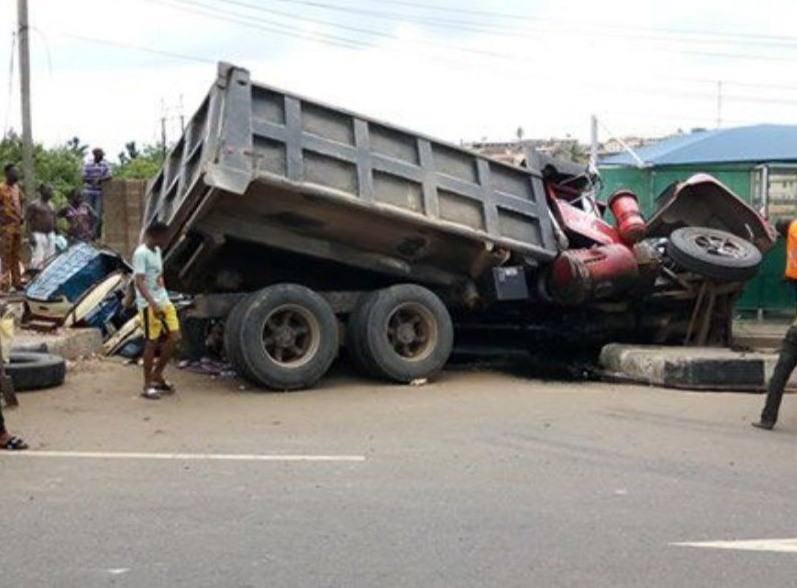 eight-year-old truck building death