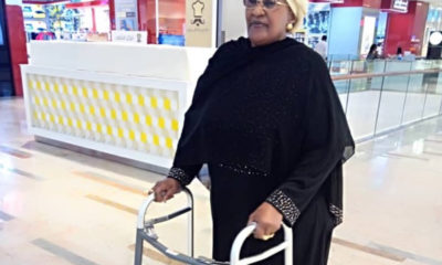 Mama Taraba jubilates after successful knee surgery [Video & Photos]