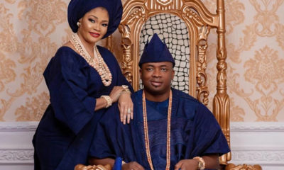 I am lucky to have you, Oba Elegushi tells Olori on 16th wedding anniversary [Photos]