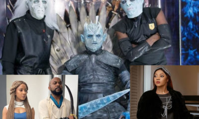 Celebrities recreate Game of Thrones actors at IK Osakioduwa's 40th birthday [Photos]