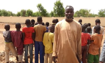 The suspected Almajiri teacher and affected pupils.