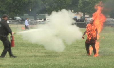 Man set himself on fire near White House