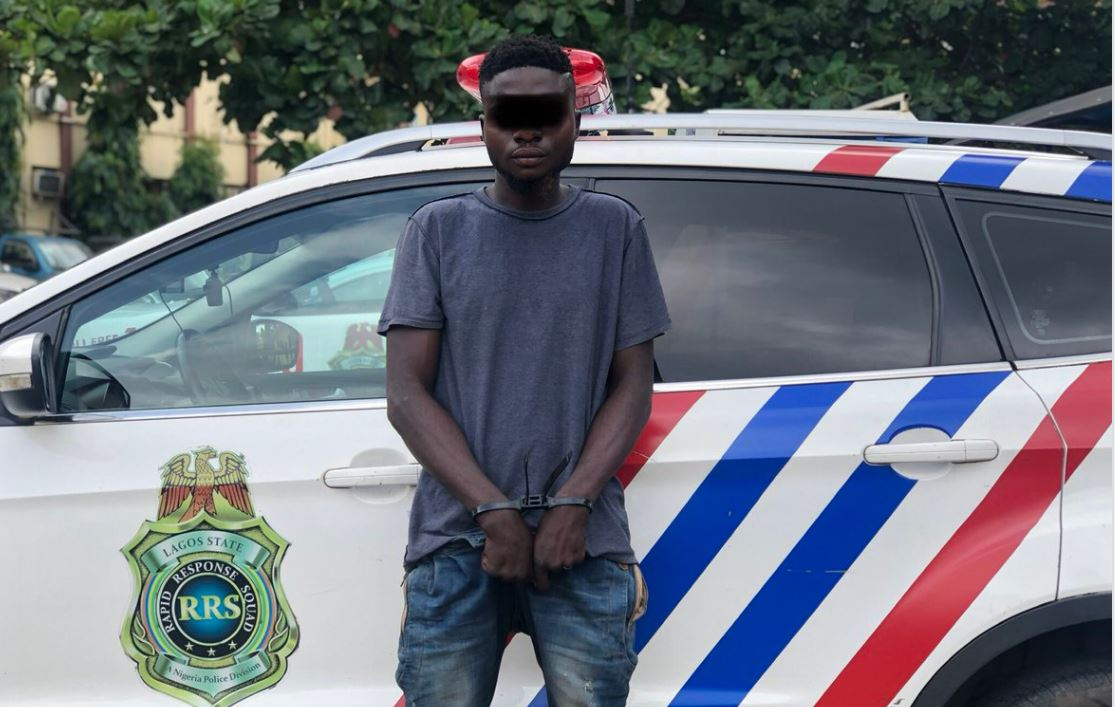 Lagos police parade man who specialises in stealing at parties