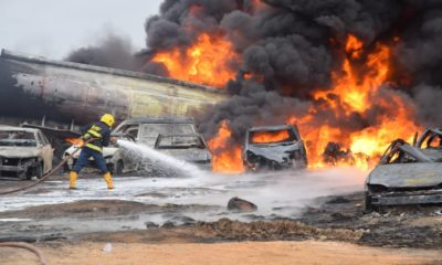 Ijegun pipeline fire
