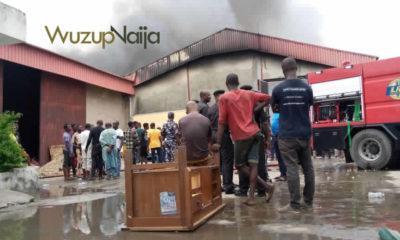 Fire guts warehouse in Surulere