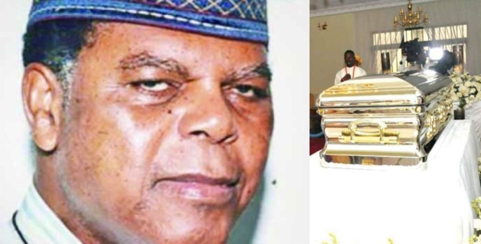 Image result for images of  Michael Ibru's grave to steal his casket