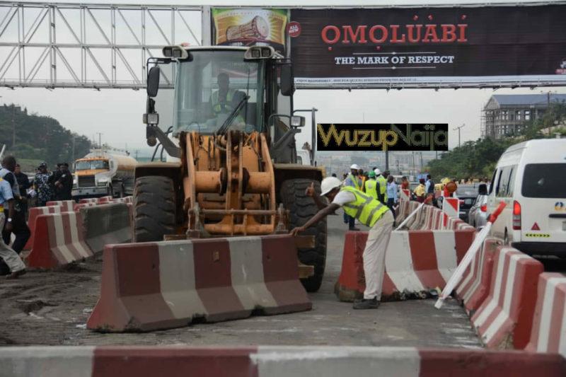 Kara Bridge Lagos Ibadan Expressway: Julius Berger begins reconstruction of Kara-Berger [Photos]