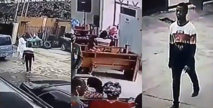 man walked into church