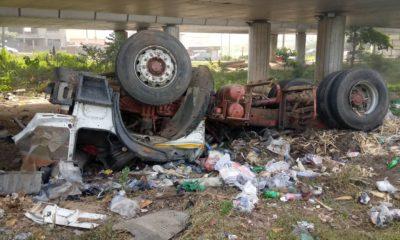 Two die as vehicles collide on Otedola bridge (1)