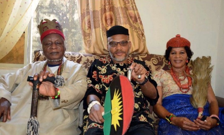 Nnamdi south east Kanu's parents