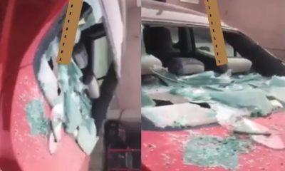 lady destroys car