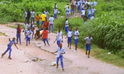 Students fight in Ibadan