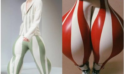 London College of Fashion showcases inflatable latex trousers for men