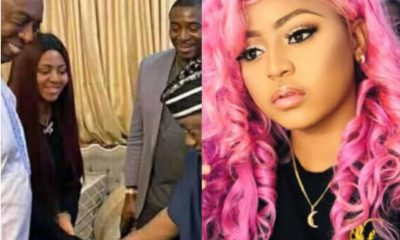 Nigerians react as minister of special duties George Akume bows to Regina Daniels (Photo)
