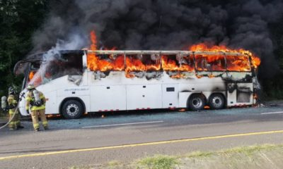 Players injured as fire guts Lobi bus