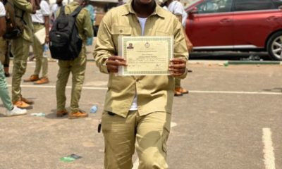 Online comedian,Mr Macaroni, completes his Nysc (photos)