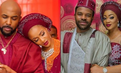 Nigerians react to news of Banky W cheating on Adesua Etomi with Gabriel Afolayan's wife
