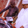 Sanwo-Olu takes Lagos explosion pictures to Buhari in Abuja