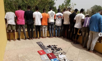 EFCC arrests 12 suspected internet fraudsters in Ilorin