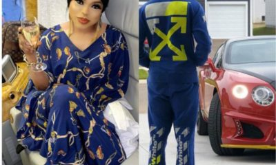 Bobrisky post boyfriend's back view, says he doesn't want hungry lions after his man