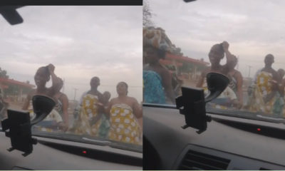 Ogun state: Women parade topless as they make 'sacrifice to send away coronavirus' (video)