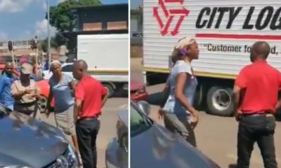 South African woman catches her husband, self isolating with side-chick in a hotel (Video)