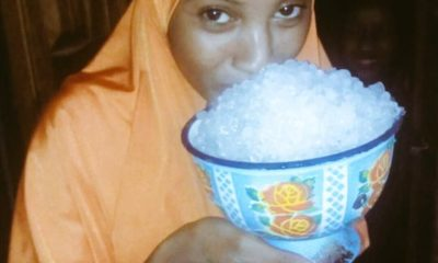 Taraba: Residents excited as it rains hails (photos)
