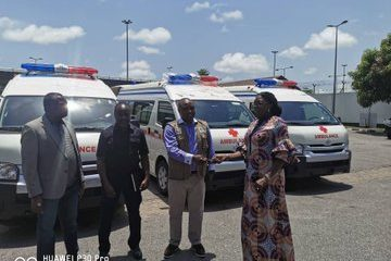 COVID-19: Dangote donates four ambulances to NCDC (Photo)
