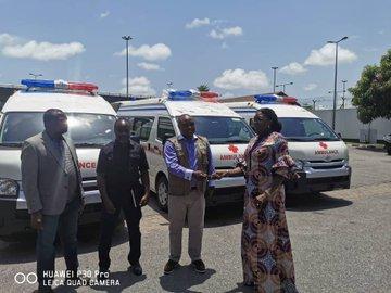 COVID-19: Dangote donates four ambulances to NCDC (Photo)