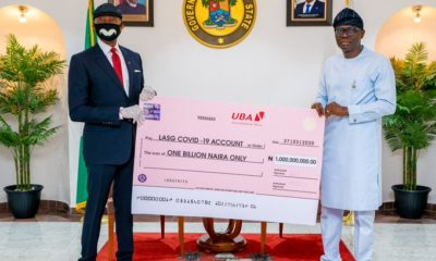 COVID-19: Lagos state receives one billion naira donation from UBA (Photos)