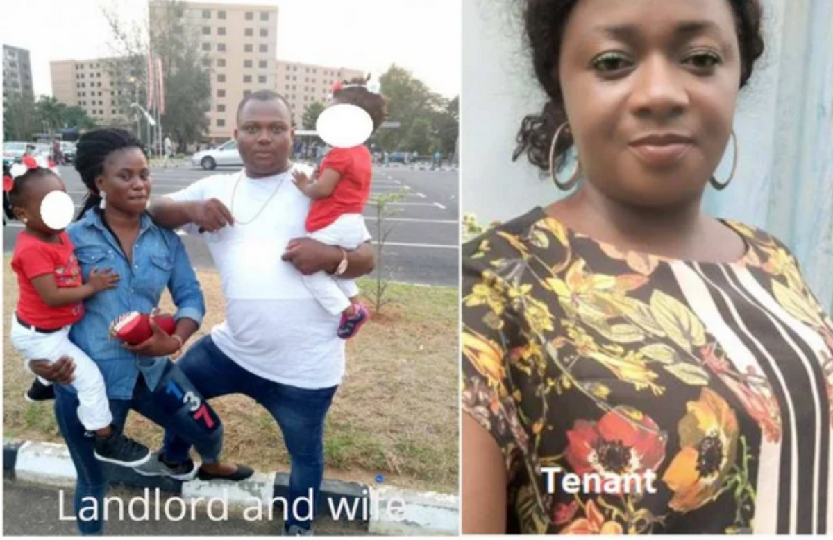 Lagos: Landlord and wife arrested after tearing tenant's face over unpaid bills (photo)