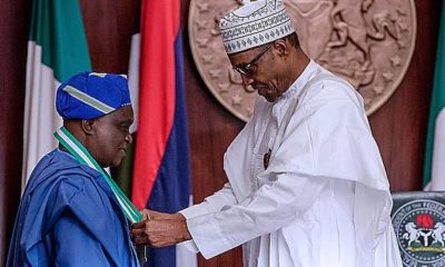 Buhari felicitates with Prof. Olufemi Obafemi at 70