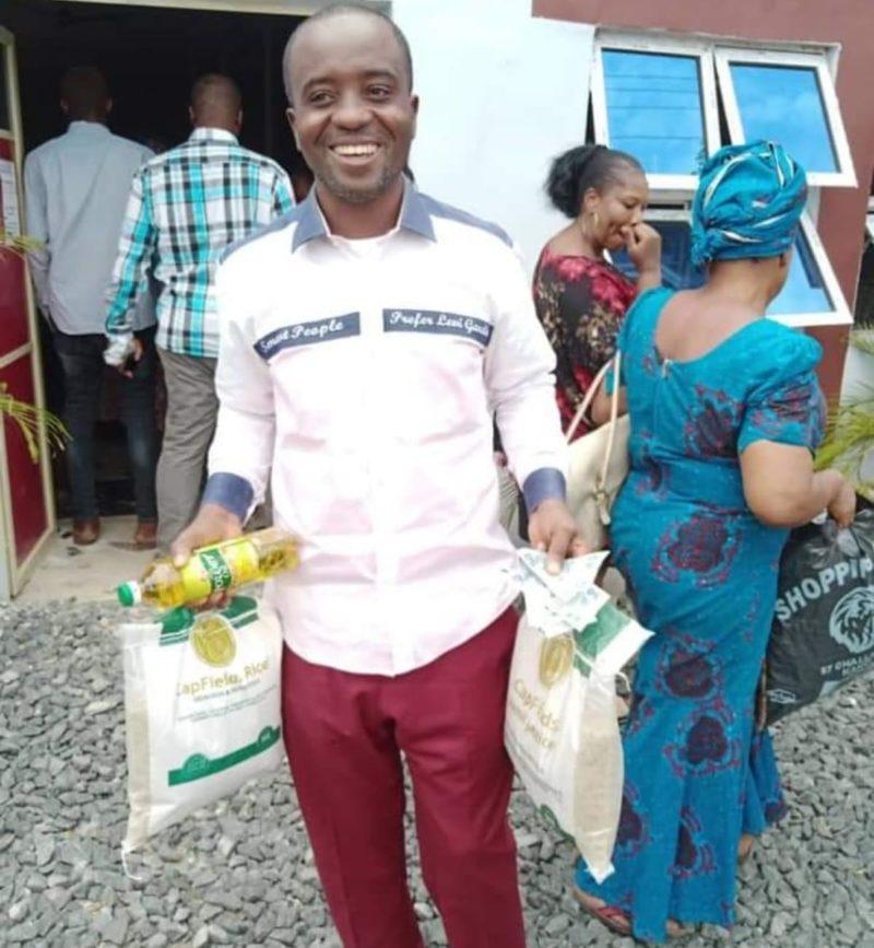 COVID-19: Pastor donates food items, cash, to church members in Awka