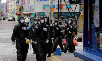 The South Korean city of Daegu, which endured the first large coronavirus outbreak outside of China, on Friday reported zero new cases