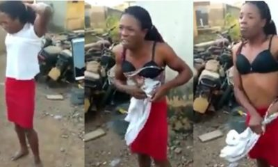 BUSTED! Nigerian man undresses after he was caught working as a female househelp (video)