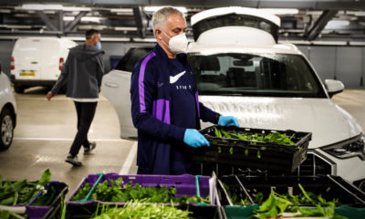 Jose Mourinho delivers produce to Stadium's food distribution hub to aid COVID-19 relief efforts (photos)