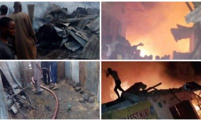 Shops, pharmacy gutted by fire in Kaduna (photos)