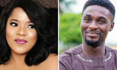 Toyin Abraham reacts after ex-husband, Adeniyi Johnson said he didn't cheat on her
