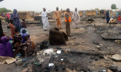 Borno: One killed, others injured as fire razes IDP camp (photos)