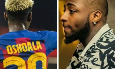 Davido please borrow me your jet, Asisat Oshoala who is stranded in Spain begs Davido