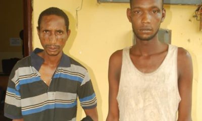 The alleged kidnappers: Sani Mohammed Kindi, 27, and Sani Jibrin, 30, both of Ebbo village in Lapai Local Government Area of Niger state