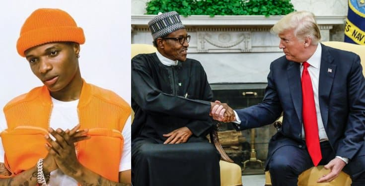 Buhari, Trump are two 'clueless' presidents, Wizkid says