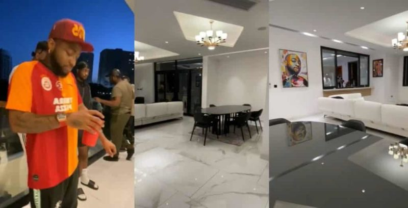 Banana Island: Davido shows off beautiful interiors of his mansion (video)