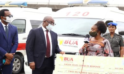COVID-19: BUA foundation donates N200m, five ambulances to Lagos
