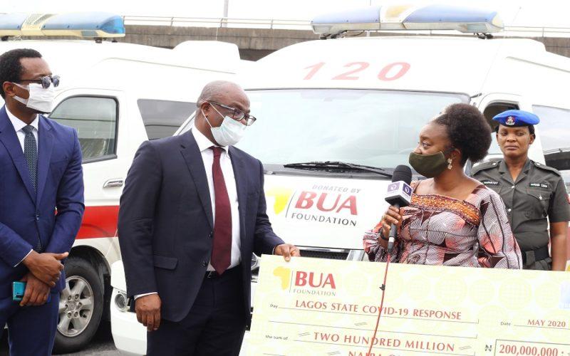 COVID-19: BUA foundation donates N200m, five ambulances to Lagos