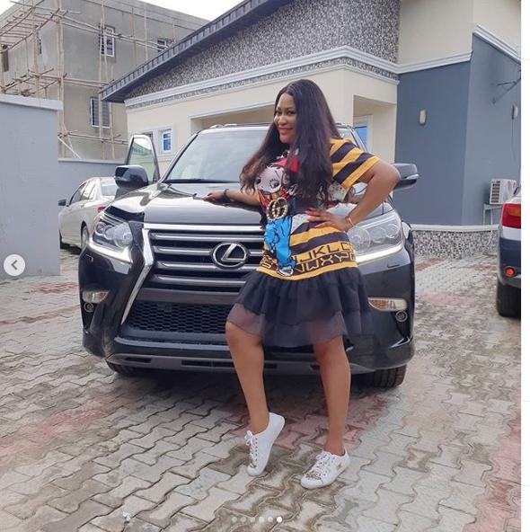 Actress Uche Elendu flaunts her brand new Lexus SUV