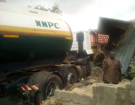 Plateau: One dead, 12 injured as tanker rams into vehicles