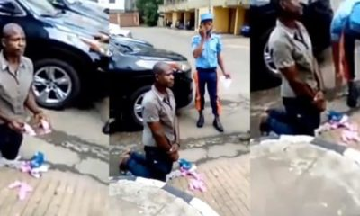 Man nabbed with used sanitary pads in Lagos (video)